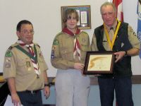 Mike Burke receives Silver Acorn award